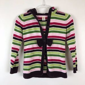 Gymboree Hooded Sweater Cardigan Girls M (7 - 8)